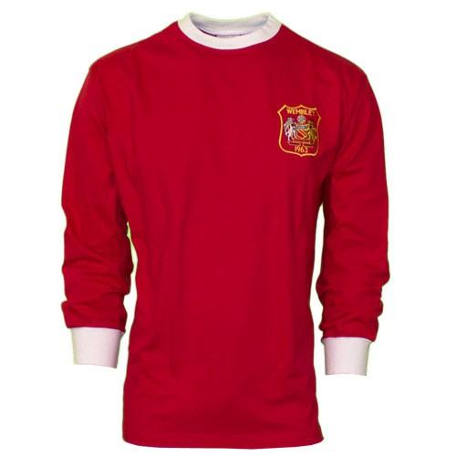 Manchester United retrotrøje fra 1963 - lange ærmer
