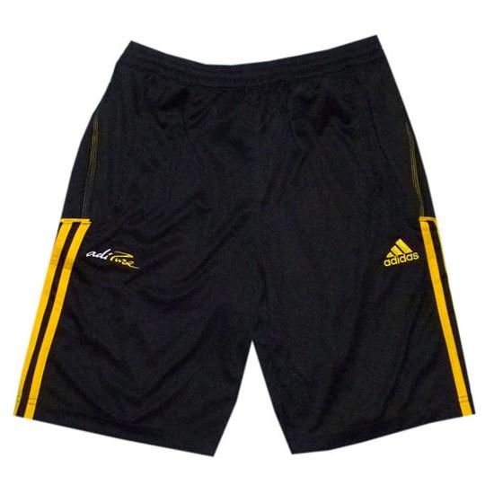 adipure training shorts - black-yellow - youth