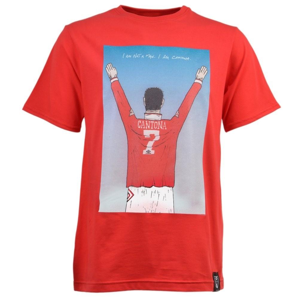Man United -  I AM CANTONA T-SHIRT - RED