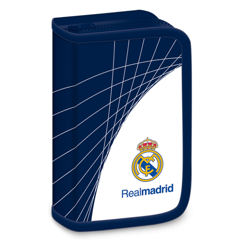 Real Madrid filled pencil case - white-blue