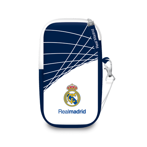 Real Madrid mobile cover - white blue