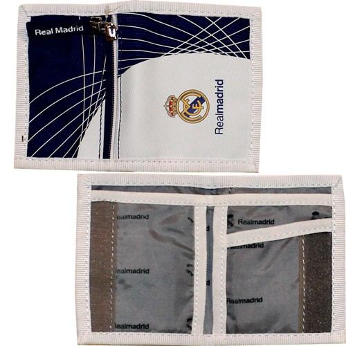 Real Madrid wallet - white navy