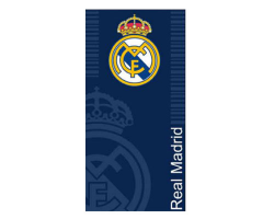 Real Madrid beach towel navy