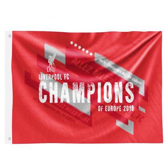 Liverpool Champions Europe Flag Trade