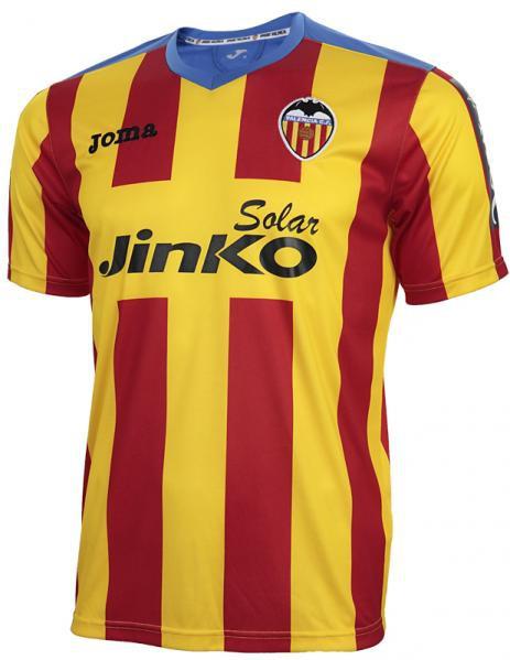 Valencia striped shirt small sleeve 2013/14