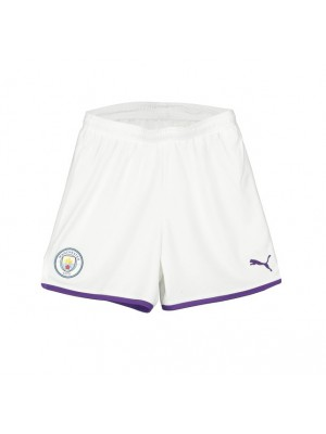 Manchester City home shorts - boys
