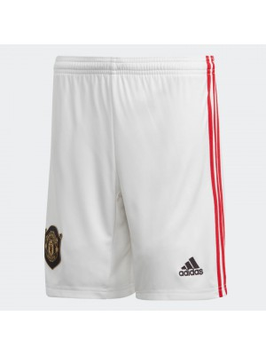 man utd home shorts - youth