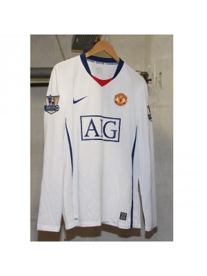 Man United away 2008/09 - Champs badges 07/08