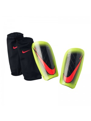 Nike mercurial lite shin guards - black neon