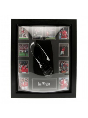 Arsenal FC Wright Signed Boot (Framed)