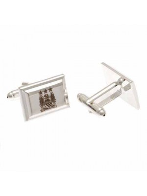 Manchester City FC Silver Plated Cufflinks EC
