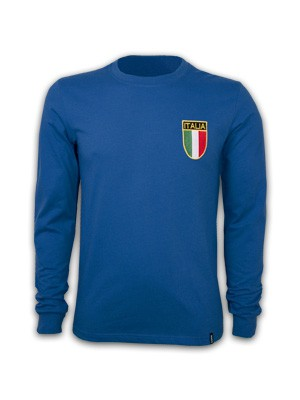 Copa Italien 1970erne retro trøje lange ærmer