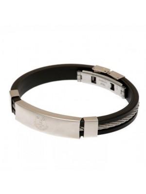 Everton FC Silver Inlay Silicone Bracelet