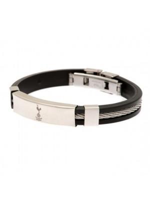 Tottenham Hotspur FC Silver Inlay Silicone Bracelet
