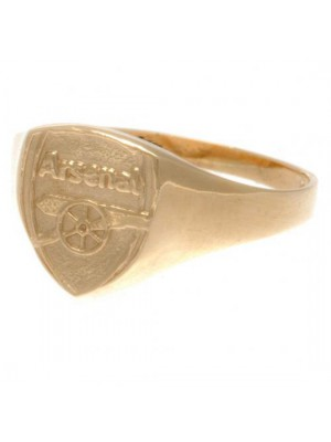 Arsenal FC 9ct Gold Crest Ring Small