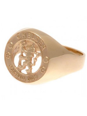 Chelsea FC 9ct Gold Crest Ring Medium