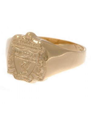 Liverpool FC 9ct Gold Crest Ring Medium