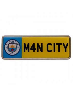 Manchester City FC Number Plate Badge