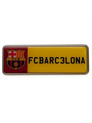 FC Barcelona Number Plate Badge