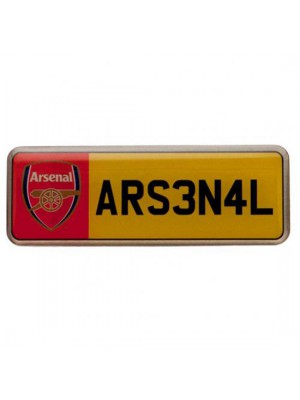 Arsenal FC Number Plate Badge