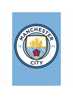 Manchester City FC Poster Crest 3
