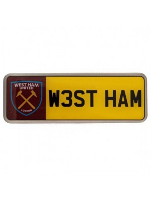 West Ham United FC Number Plate Badge