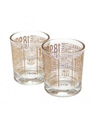 FC Barcelona 2pk Whiskey Glass Set TX