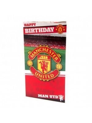 Manchester United FC Birthday Card Stadium