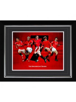 Manchester United FC Historic Moments Picture Magnificent 7s 16x20