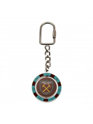 West Ham United FC Spinner Keyring PC