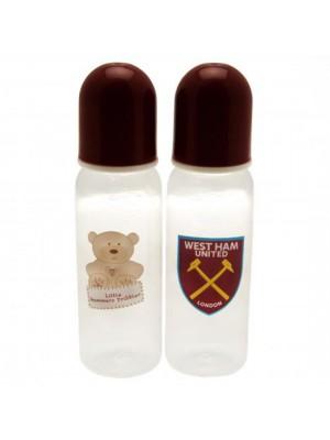 West Ham United FC 2 Pack Feeding Bottles