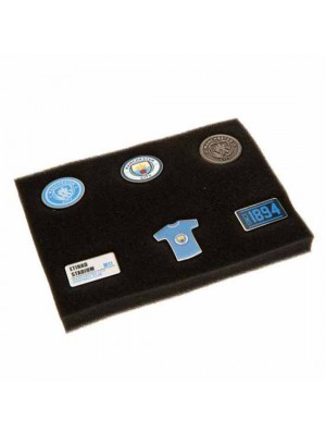 Manchester City FC 6 Piece Badge Set