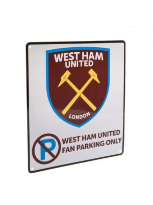 West Ham United FC No Parking Sign