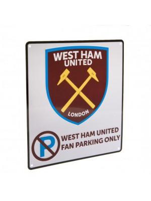 West Ham United FC No Parking Sign