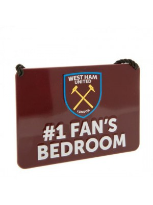 West Ham United FC Bedroom Sign No1 Fan