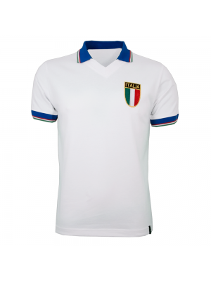 Copa Italy Away Wc 1982 Short Sleeve Retro Shirt