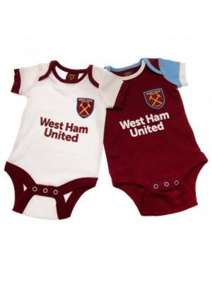 West Ham United FC 2 Pack Bodysuit 9/12 Months WT