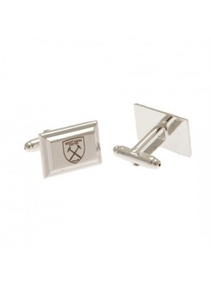 West Ham United FC Silver Plated Cufflinks