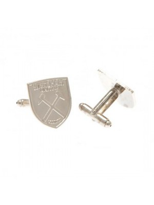 West Ham United FC Silver Plated Cufflinks CR