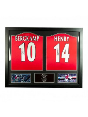 Arsenal FC Bergkamp & Henry Signed Shirts (Dual Framed)