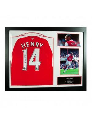 Arsenal FC Henry Signed Shirt (Framed)