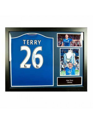 Chelsea FC Terry Signed Shirt (Framed)