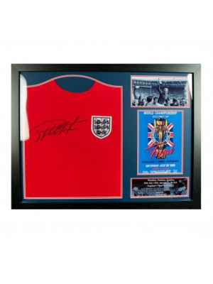 England FA Sir Geoff Hurst Signed Shirt (Framed)