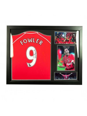 Liverpool FC Fowler Signed Shirt (Framed)