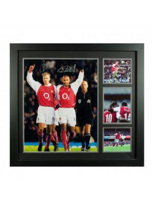Arsenal FC Bergkamp & Henry Signed Framed Print