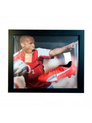 Arsenal FC Henry Signed Boot (Framed)