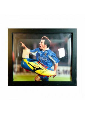 Chelsea FC Zola Signed Boot (Framed)