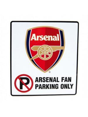 Arsenal FC No Parking Sign