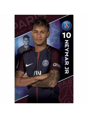Paris Saint Germain FC Poster Neymar 10