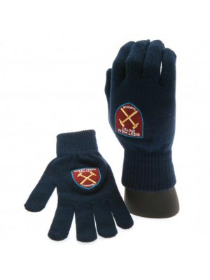 West Ham United FC Knitted Gloves Adults